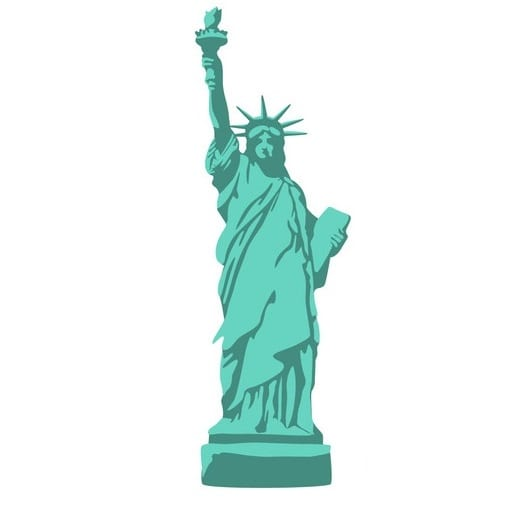 icono estatua liberdad