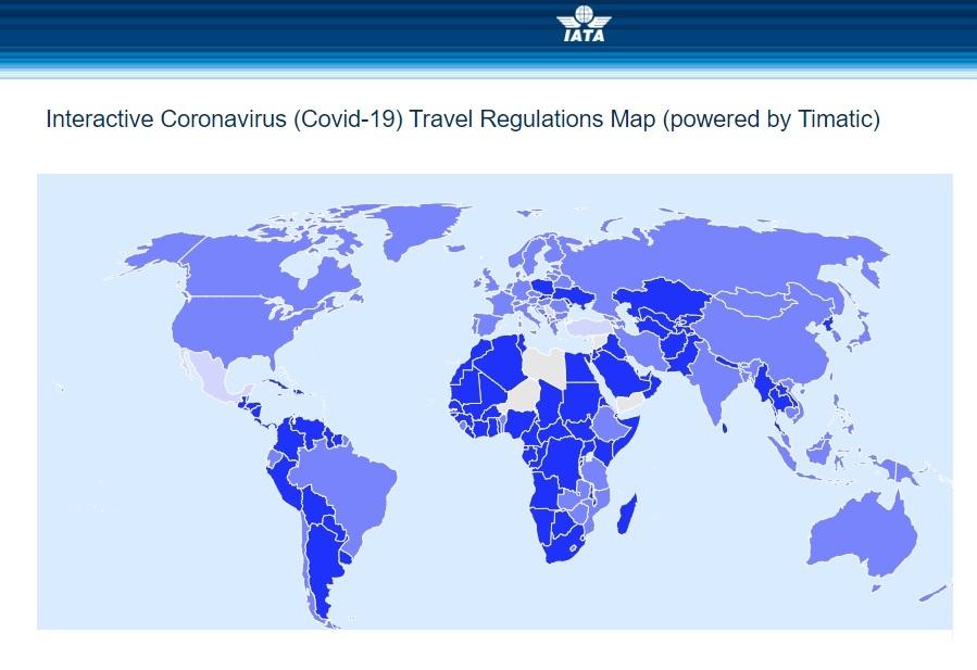 Mapa Interactivo IATA - COVID